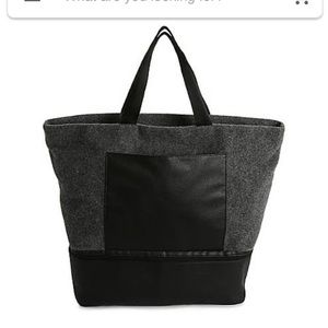 NEW DSW Gray Felt Tote Bag NWT